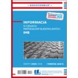 Informacja o cenach materiałów budowlanych IMB 1 kw. 2020