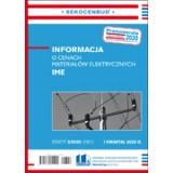 Informacja o cenach materiałów elektrycznych IME 1 kw. 2020